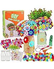 Yojoloin Kit Manualidades Niños 5 6 7 8 9 10 Años,Juegos de Manualidades Florero y Flores Actividades Creativas para Chico Chica,Juguetes de Bricolaje Regalo para Bebe