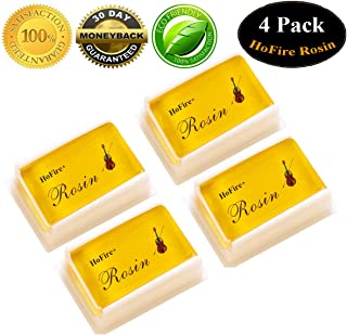 Rosin,HoFire 4 Packs Violin Rosin Light Low Dust Natural Rosin For Bows For Violin Viola And Cello (4 Pack Rosin)