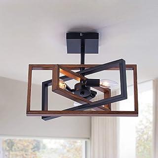 Industrial Rectangle Flush Mount Ceiling Light,Rotatable...