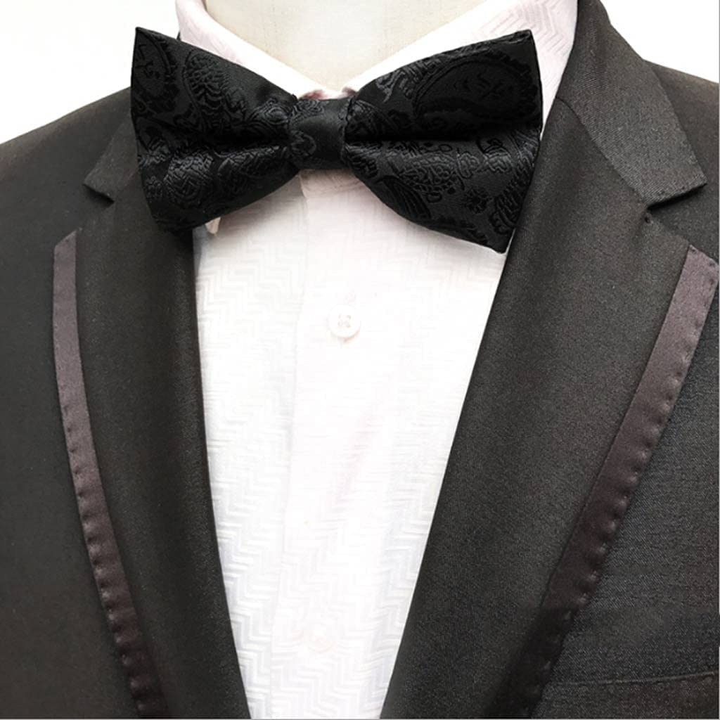 XJJZS Men's Max 75% OFF Bow Tie Animer and price revision Gold Bowtie Business Wedding Dot Bowknot Blu