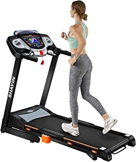 Home Treadmill 3.5CHP Folding Incline Treadmills for Indoor Fitness Exercise Electric Motorized Running Machine with LED Display of Tracking Heart Rate Easy Assembly with 12 Preset Programs
