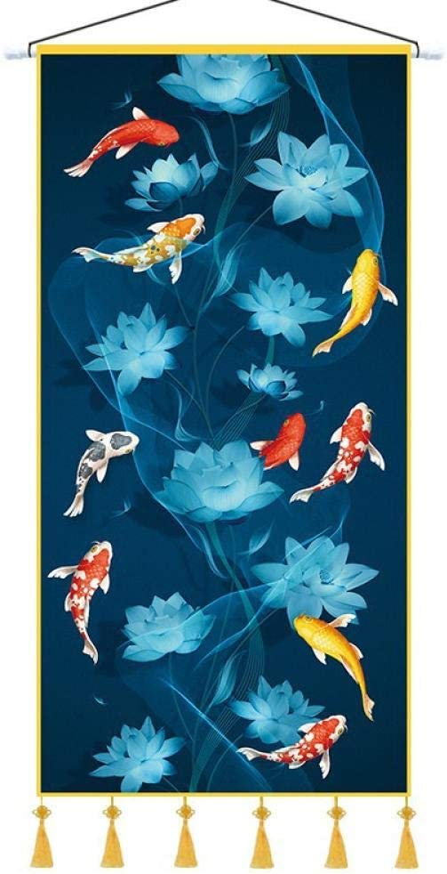 Nine fish figure feng shui Excellence entrance corridor Inventory cleanup selling sale cloth aisl tapestry