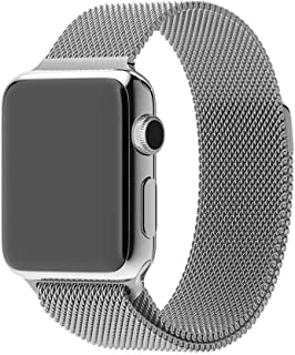 Smart Watch Band 42mm, Fully Magnetic Closure Stainless Steel Bracelet Strap iWatch Band for Smart Watch Series 3, Series ...