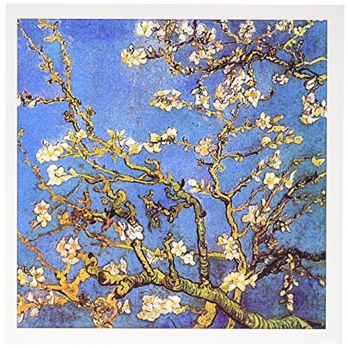 3dRose Almond Blossoms by Vincent van Gogh 1890 - famous fine art by masters - Greeting Cards, 6 x 6 inches, set of 12 (gc_155639_2)