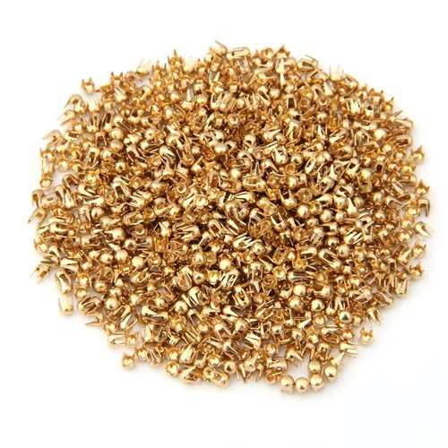 fitTek® 1000X Remaches Tachuelas Cobre Color Dorado para Bolso Ropa 2.5mm
