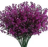 Ancokig Flores Arbustos Artificiales Plantas Flores Exteriores Resistentes a Rayos UV Arbustos Artificiales Decorativos para Decoración de Arreglo Floral, Centro de Mesa (Fucsia)