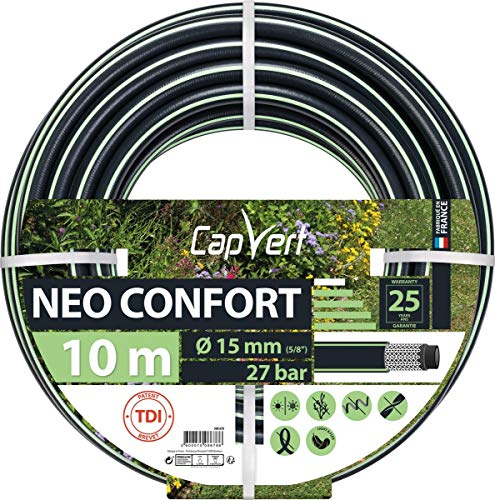 Cap Vert Tuyau d'arrosage Néo Confort Diamètre 19 mm - Longueur 10 m