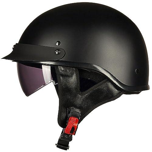 Motorcycle Half Helmet Amazon Com