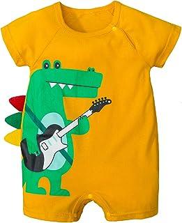 OhhGo Baby Jungen Strampler Kleinkind Cartoon Gitarre Krokodil Jumpsuit Body
