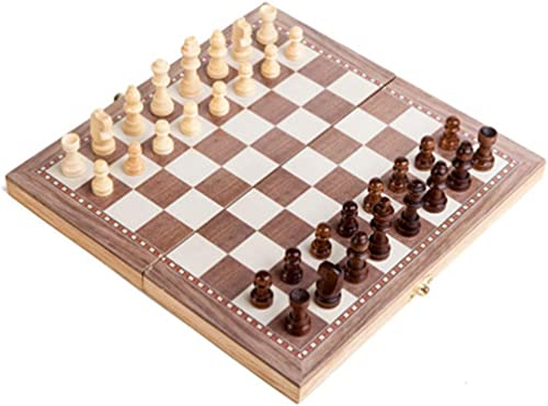 """high quality OPTIMISTIC popular Magnetic popular Wooden Chess Set for Adults and Kids– 12"""" Portable Folding Chess Board Game Set - Wood Chess Pieces - Travel Wooden Board Games Chess Set for Beginner outlet online sale"""