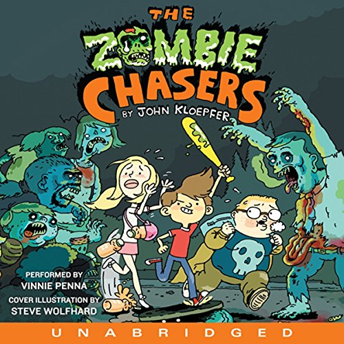 The Zombie Chasers audiobook cover art