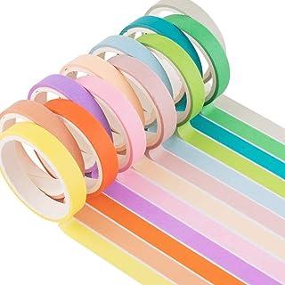 YUBX Maigre Washi Tape Set Masking Tape Ruban adhesif decoratif pour Scrapbooking Artisanat de Bricolage 8MM de large (Can...