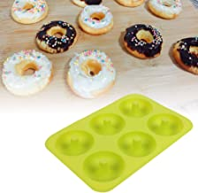Wear-resistant Chocolate Mold, Silicone Donut Mold, Silicone Donut Mold, 6-Cavity Silicone Bpa-free for Dessert Bread green