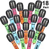 meekoo 18 Piezas de Micrófonos Inflables Juguetes Set Plástico Micrófono de Colores Juguetes para Niños Fiesta de Cumpleaños de Navidad Favor de Suministros de Regalo
