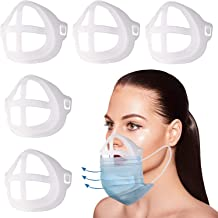 BRINCH 5 PCS 3D Bracket for Comfortable Face Cover Wearing | Silicone Cover Inner Support Frame Reusable Washable Translucent