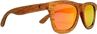Wood Sunglasses|Polarized|Retro Vintage Wooden Frame|UV Protection|Bamboo Case