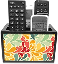 "Nutcase Designer Wooden Remote Control Holder Stand Organizer Caddy for TV/AC Remotes-Multipurpose Desk Organiser-6""x4""x4"""