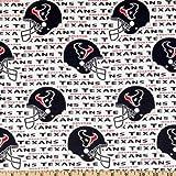 NFL Cotton Broadcloth Houston Texans White/Navy,...