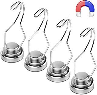 30lb Swivel Swing Powerful Magnetic Hooks Magnetic Swivel Hooks - Heavy Duty Super Strong Hook Magnet Set - Best For Refrigerator, Door Coat Hook, Grill Utensils, Cruise Cabin Wall, Garage Tool Hanger