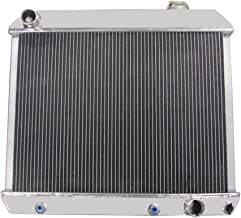 OzCoolingParts Chevy C/K Series Radiator, 2 Row Core Aluminum Radiator for 1961-1966 C10 C20 C30 K10 K20 K30 Pickup L6 V8 (BN284)