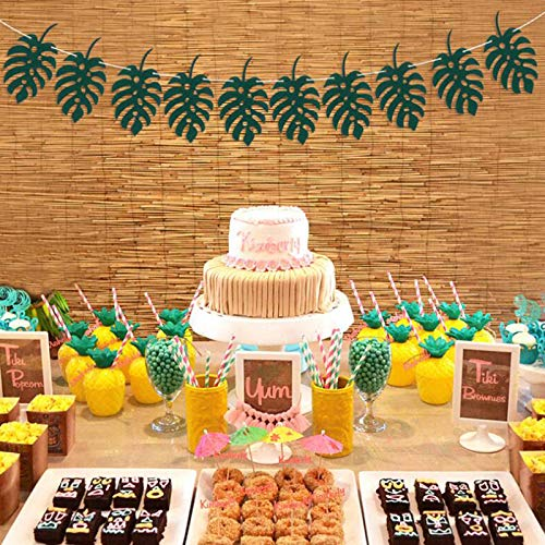 Janly Clearance Sale Summer Party Hawaii Palm Tree Party Pineapple Film Balloons Decoration Set 16'' , Home Decor forHome & Garden , Easter St Patrick's Day Deal (B)