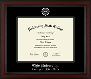 Ohio University College of Fine Arts - Officially Licensed - Silver Embossed Diploma Frame - Diploma Size 14
