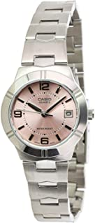 Watch for Women by Casio, Analog, Stainless Steel, Silver, LTP-1241D-4A