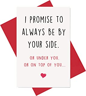 Funny Anniversary Card, Birthday Card, Card for Boyfriend Husband Fiance Girlfriend Wife Fiancee