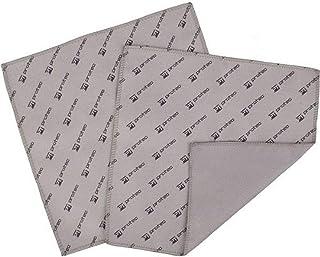 Pro Tec 7 X 7 Inches Microfiber Polishing Cloth - 2 Pack, Gray/Black (MF77)