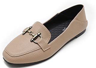 99166528ca8d Modenpeak Womens Leather Ballet Flats Comfort Low-Heel Penny Loafers  Driving Shoes