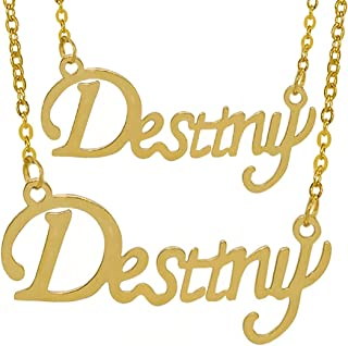 Utkarsh (Set Of 2 Pcs) Golden Color Fancy & Stylish Trending Valentine's Day Special Metal Stainless Steel Destiny Name Le...