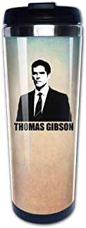 Boomy Cool Thomas Gibson Poster Stainless Steel Travel Mug For Indoor & Outdoor Office School Gym Use