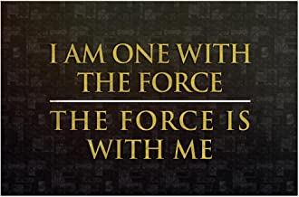 Poster Foundry ProFrames I Am One with The Force The Force is with Me Movie 18x12 inches Multi 295542