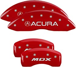 MGP Caliper Covers 39021SMDXRD Red Powder Coat Finish - Brake Covers for 2017-2019 Acura MDX (Set of 4)