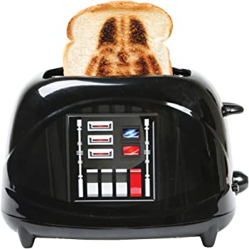 Uncanny Brands Star Wars Darth Vader Empire 2-Slice Toaster- Vader's Icon Mask onto Your Toast