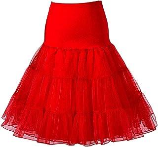 8b5969e58ac Beauty-Emily Women s 50s Vintage Skirt Petticoat Ruffles Mini Slips Tutu  Underskirt