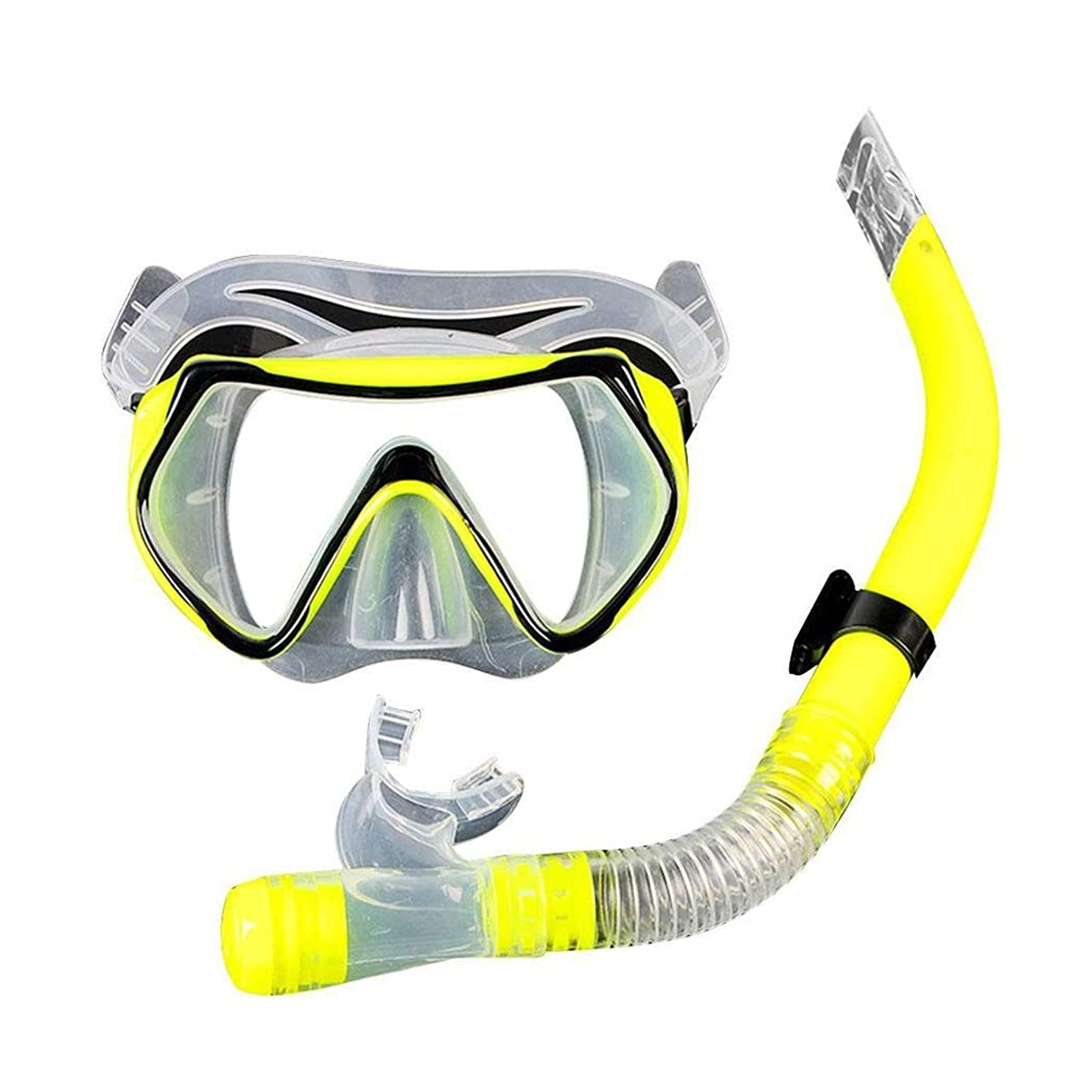 栄光のファーザーファージュ噴火海 スキューバダイビングマスクフルフェイススノーケルマスク水中アンチフォグスノーケリングダイビングマスク用水泳 呼吸とビジョン (Color : Yellow)