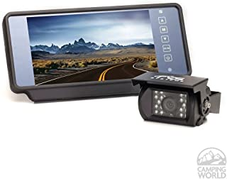 """Backup Camera System with 7"""" Replacement Mirror Monitor 