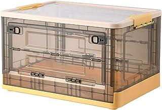 ZQCM Boîte De Rangement Transparente 50L, Boîte à Livres Pliable, pour Armoire, Placard, Rangement pour La Maison Et Le Bu...