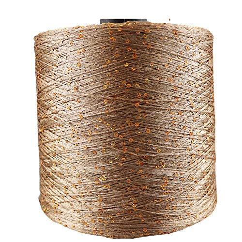 Wolle Zum Stricken Summer Silk Mercerized Yarn Ball Spezialrolle Pailletten Handstricken Wolldecke Zum Stricken 700M 100G-25