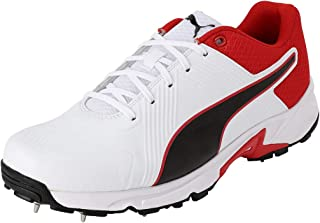 Puma Men's Spike 19.2 White Black-hi Cricket Shoes