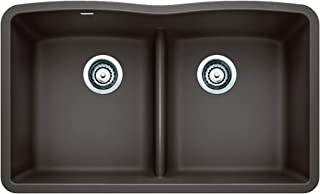 Blanco 442078 Diamond Equal Double Low Divide Undermount, Cafe Brown