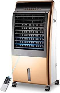 LSX Enfriar y calentar de doble uso, purificación de iones negativos, tanque de agua grande de 8L, operación conveniente, ventilador de aire acondicionado inteligente móvil ahorro de energía para el h