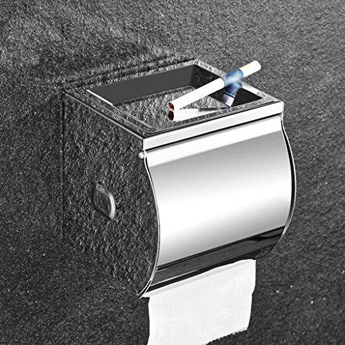 Cenicero 304 Titular de la Toalla de Papel de baño de Acero Inoxidable Impermeable con Titular de Rollo UOMUN