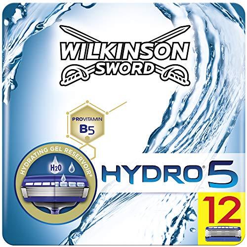 Wilkinson Sword Hydro 5 Rasierklingen für Herren Rasierer, 12 Stück