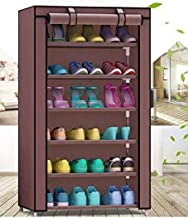 Styleys Multipurpose Portable Folding Shoe Racks for Home Organisers with Waterproof cover-6-Tiers- (Brown)