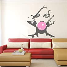 Umondon Quote Vinyl Wall Decal Sticker Art Removable Words Home Decor Marilyn Monroe Bubble Gum Beauty Hair Salon Woman Girl Interior Home Decor DIY Decoration