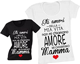 3811b3de4 Altra Marca T-Shirt Donna Maglietta Personalizzata Gli Amori della Mia Vita  Maglia Femminile Estiva
