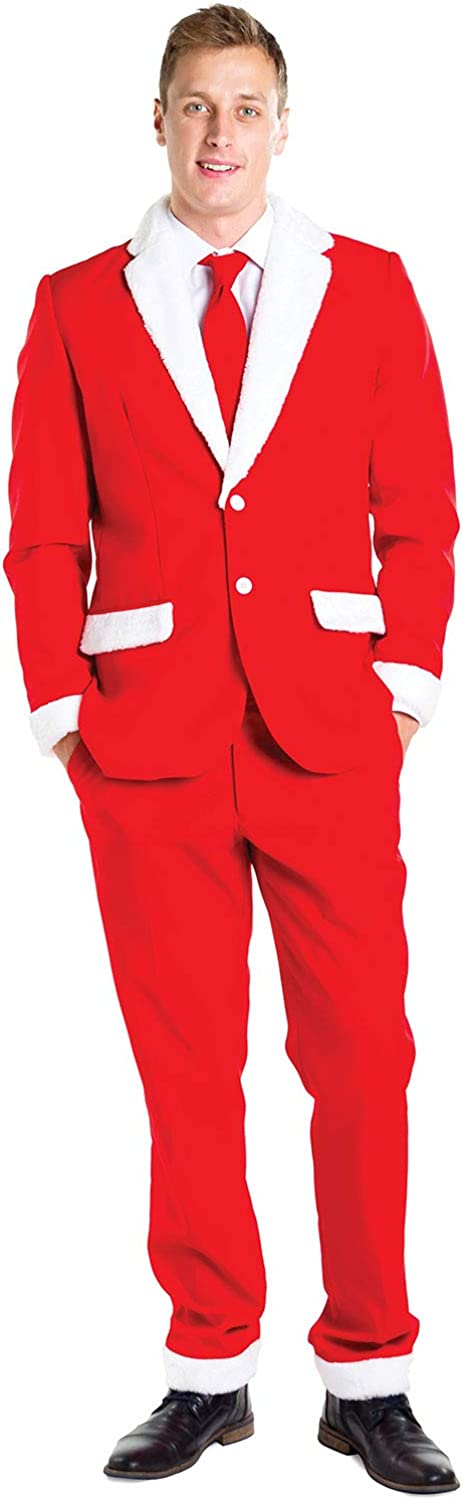 Men's Christmas Suit Santa Blazer+Tie Limited time cheap sale Sold Washington Mall Separately and Pants