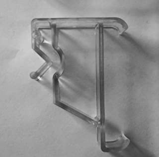 4 pcs Clear Valance Clips for Window Blinds